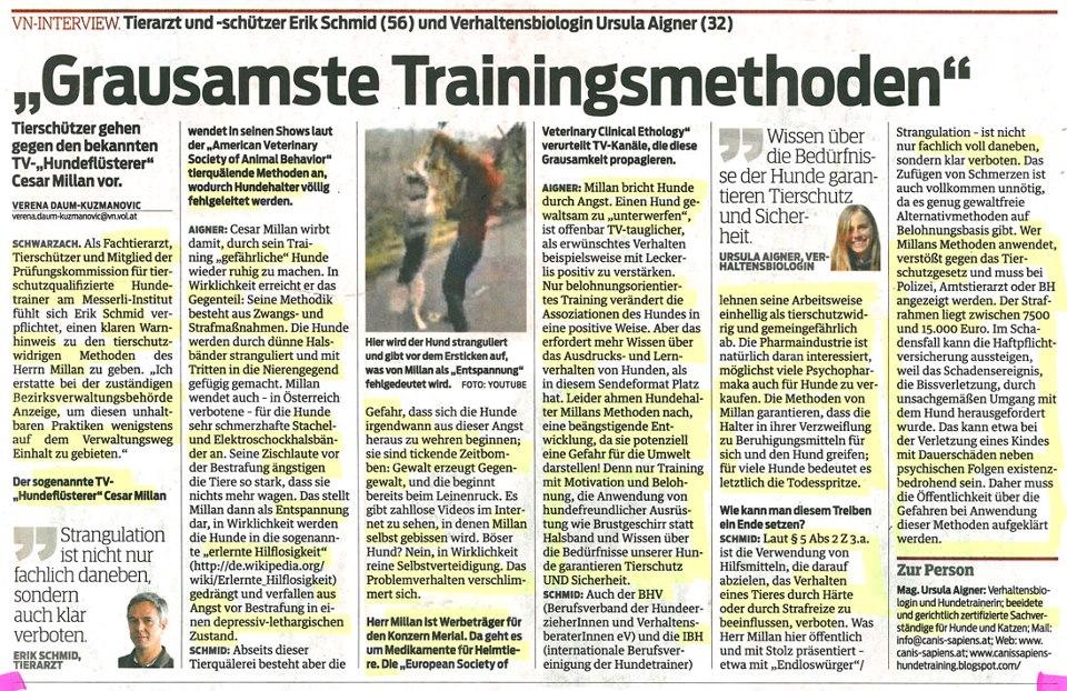 Österriket förbjuder enligt lag Cesar Millans träningsmetoder 2013