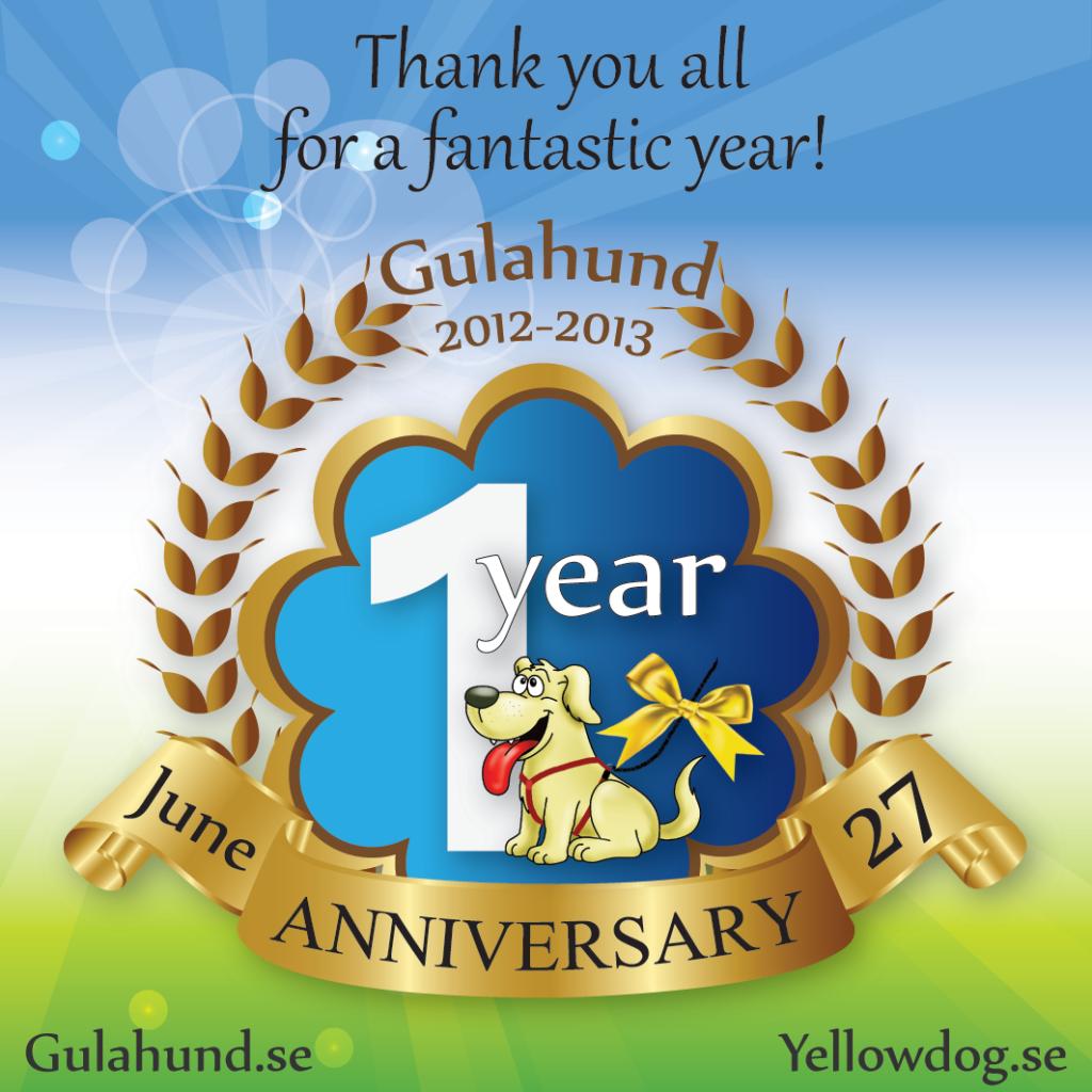 gulahund-1arsjubileum
